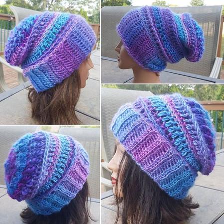 Moonlight hat crochet pattern