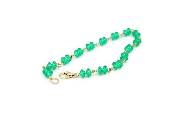 Green bead bracelet