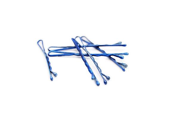 Cobalt Blue Bobby Pins