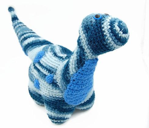 Blue Crochet Dinosaur