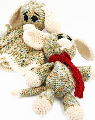 Stuffed dog and dog lovey