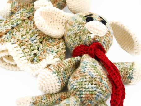 Crochet Dog & Lovey pattern info