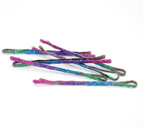 Multi-Color Glitter Bobby Pins