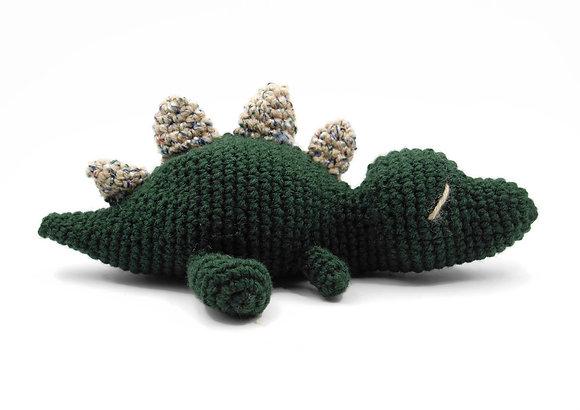 Green Crochet Stegosaurus