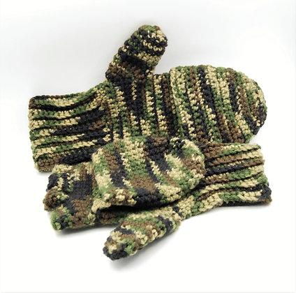 Camo flip top convertible gloves