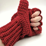Red convertible gloves