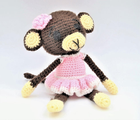 Crochet Girl Monkey Stuffie
