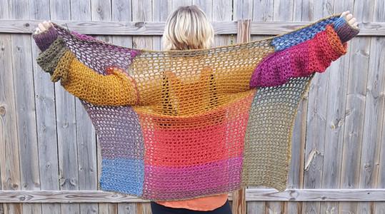 imagine cardi- free crochet pattern