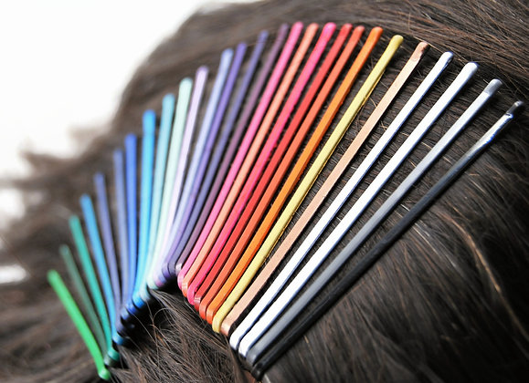 "3"" colorful bobby pins, in your choice of color(s) and quantity"