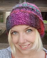 Brittique owner wearing crochet hat