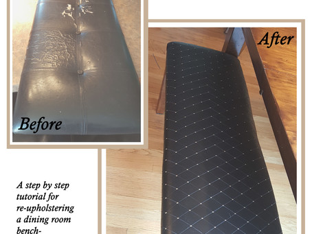 How to Reupholster (it's easier than you'd think!)