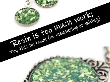 How to make faux resin jewelry