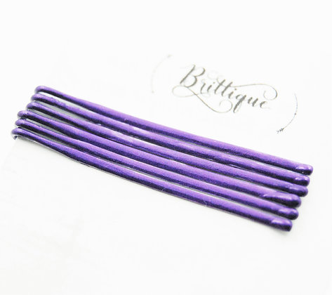 Metallic Purple Bobby Pins