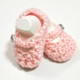 Pair of pink Crochet baby booties