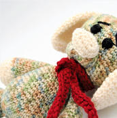 Crochet dog stuffie