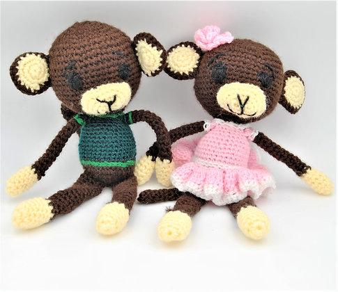 Crochet Monkey Set