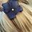 Thumbnail: Blue hydrangea hair pin, navy blue flower girl hair pin