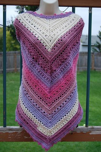 Taste of Honey Shawl, free crochet pattern