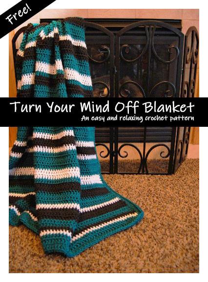 Teal balck and white crochet blanket pattern
