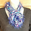 Thumbnail: Blue and white knit infinity scarf