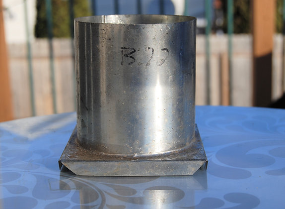 "Round Metal Candle Mold (3.5"" x 3.5"")"