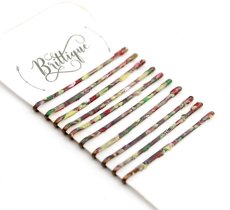 Red Camo Bobby Pins