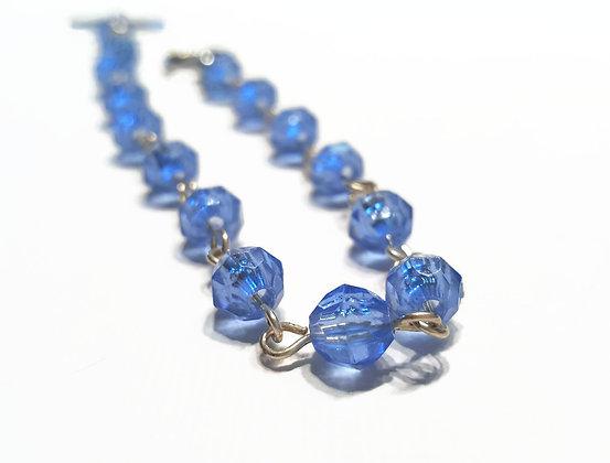 Delicate Blue Beaded Bracelet