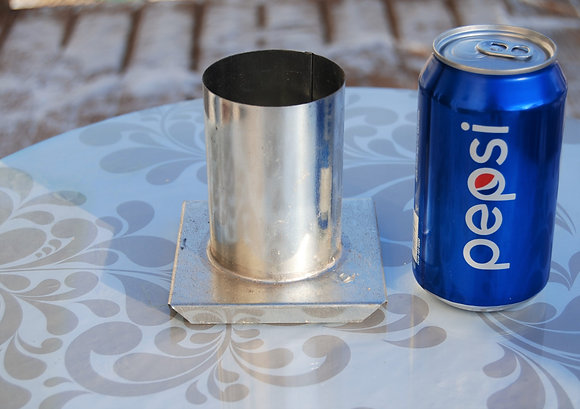 """Small Round Metal Candle Mold (3.5"""" x 2.5"""")"""