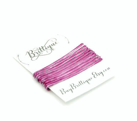 Metallic Pink Bobby Pins