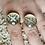 Thumbnail: Adjustable gold and white filigree ring