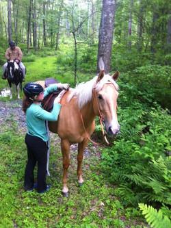 Kathryn & Bunny on trail