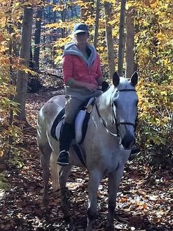 Kathryn & Pocahontas fall day ride