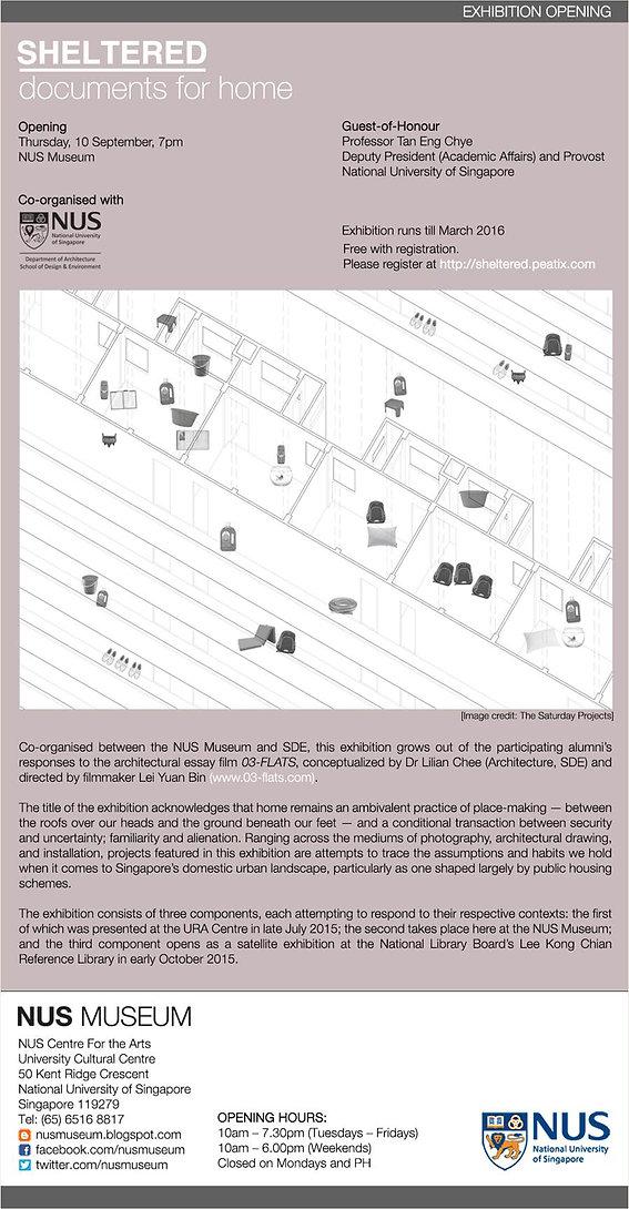 kenneth koh, lilian chee, 03-flats, exhibition. 03 flats, 3 flats, singapore, domesticity
