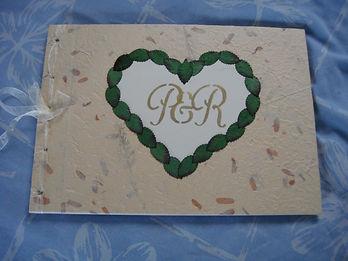 Handmade wedding book by Inner Radiance Ceremonies