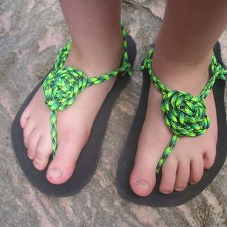 sandály Huarache ozdobný uzel