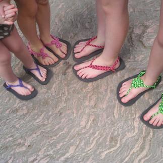 sandály Huarache ozdobné vázání