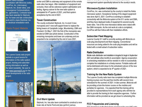 Luzerne County P25 Project Newsletter - May 2021