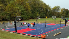 GT Builds a Multi-Sport Court at Bayne Elementary School
