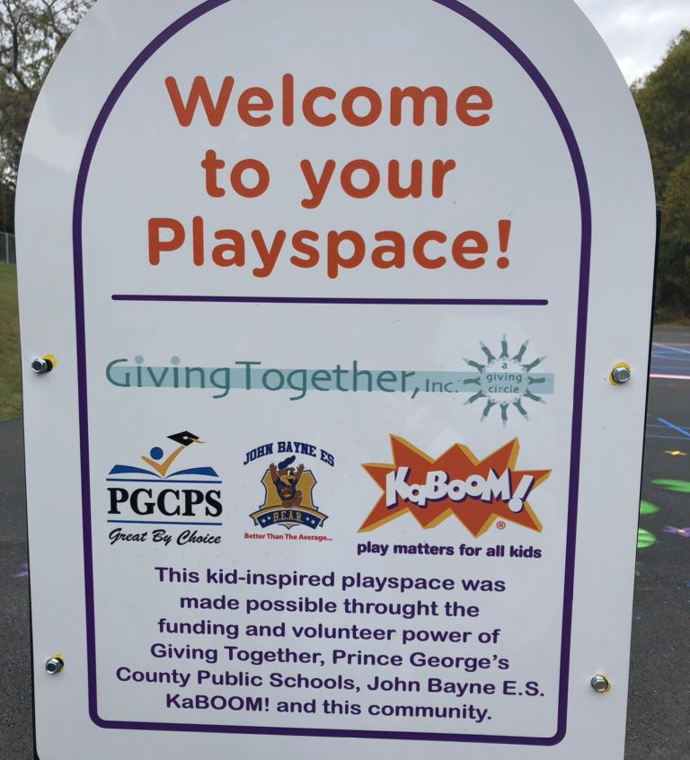 Playspace sign