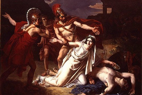 Sebastian Louis Guillaume Norblin's Antigone Giving Burial to her Brother Polynices, 1825