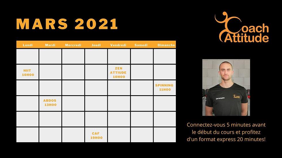Orange Geometric Pattern Daily Calendar