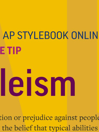 AP changes its stylebook on Ableism