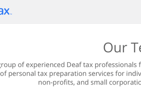 Deaf-owned tax firm is unique