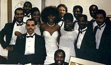 Whtiney Houston and Band 1986