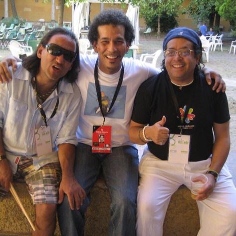 """Giovanni Hidalgo and Horacio """"El Negro"""" Hernandez"""
