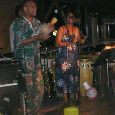 With George Makinto and Thelma Loubaki
