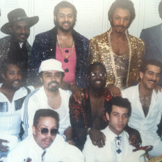 Backstage with the Isley Brothers 1986