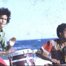 Drumming at Riis Beach, NYC 1971