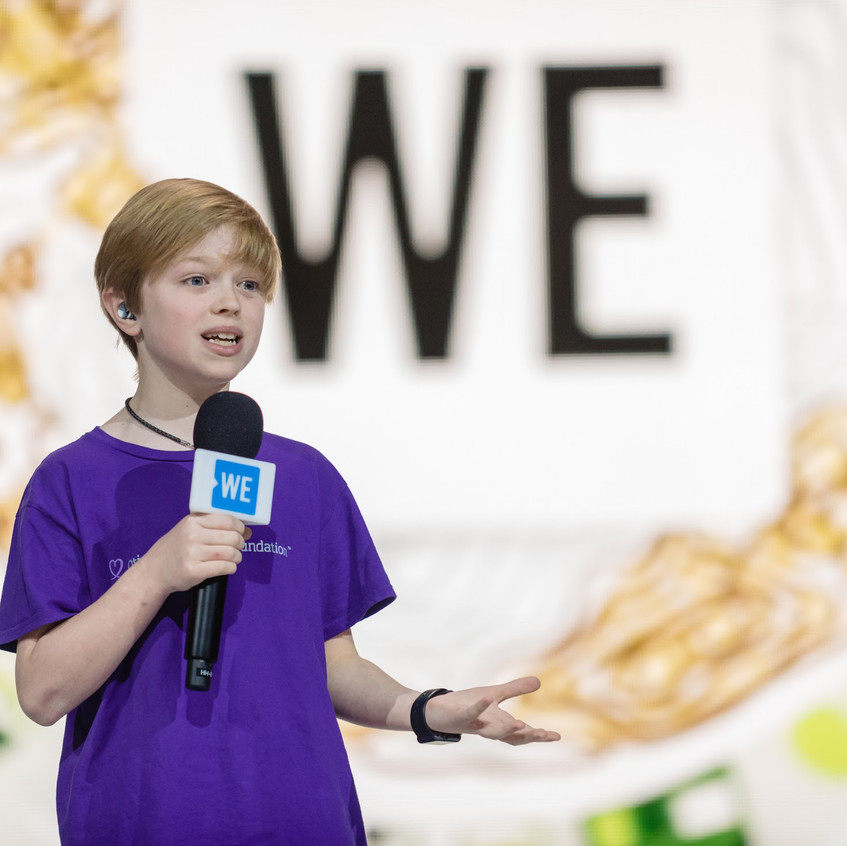 Speaking at WE Day