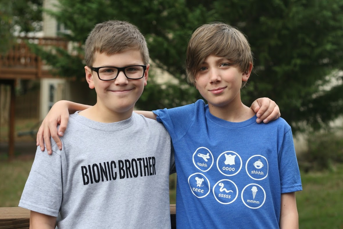 Brothers with hearing loss